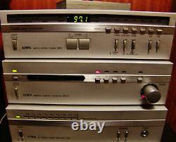 Vintage Aiwa Mini 4 Piece Stereo C50 P50 R50 R300 Amplificateur Pre Amp Tuner Receiv