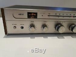 Vintage Akai Aa-810 Récepteur Stéréo / Amplificateur En Parfait État De Fonctionnement Des Années 1970 Monnaie