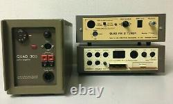 Vintage Audio Set Avec Quad 33 Pré-amplificateur 303 Power Amp & Fm3 Tuner Good
