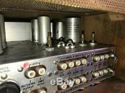 Vintage Fisher 400cx2 400 Cx-2 Tube Preamp Pré-amplificateur Avec L'original Cabinent