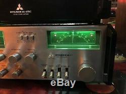 Vintage Mitsubishi Da A7dc Stereo Amplificateur De Puissance + Da-c7 Tuner / Preamp Wow