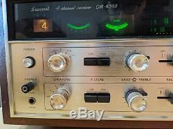 Vintage Sansui Qr-6500 Quadraphonic 4 Canaux Amplificateur De Puissance Récepteur