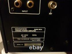 Vtg Rare Kenwood Basic M-2a Power Amp Match Amp Match Pour Le Préampli C-2 De Base