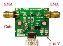 Wideband Low Noise Amplificateur Lna Sdr Rtl Préamplificateur Hf Vhf Uhf Récepteur